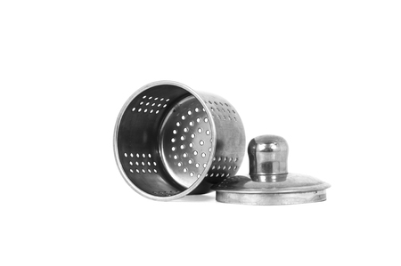 Tea Strainer, a part of tea kettle, isolated on white background.