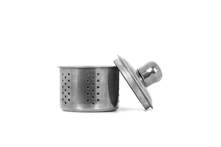 brew house: Tea Strainer, a part of tea kettle, isolated on white background.