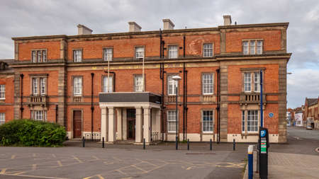 DERBY, UNITED KINGDOM: May, 2020: Hallmark Hotel formerly The Midland Hotel next to Derby Train Station. An Historic Hotel built to serve Derby Railway Station in the 1840's featuring Georgian Architecture.