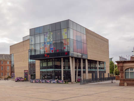 DERBY, UNITED KINGDOM - May 24, 2020 - View of The Quad visual arts gallery in the city centre, Derby, Derbyshire, England, UK, Western Europe.
