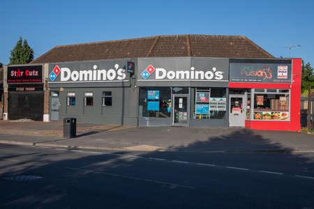 Domino's Pizza Takeaway in Sunnyhill Derby United Kingdom Editorial