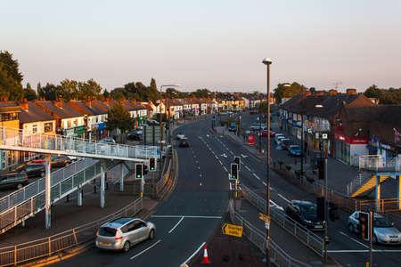Derby UK, August 13, 2020: Allenton Shopping precinct in the Suburbs of Derby, Derbyshire, United Kingdom Editorial