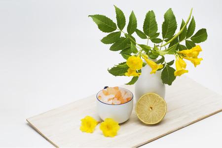 Tropical flower spa treatment concept