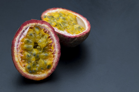 Passion fruit isolated on back background
