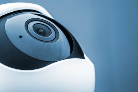 Close-up camera 360 voor huisbeveiliging