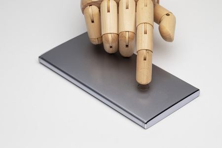 Robotic finger using fingerprint concept