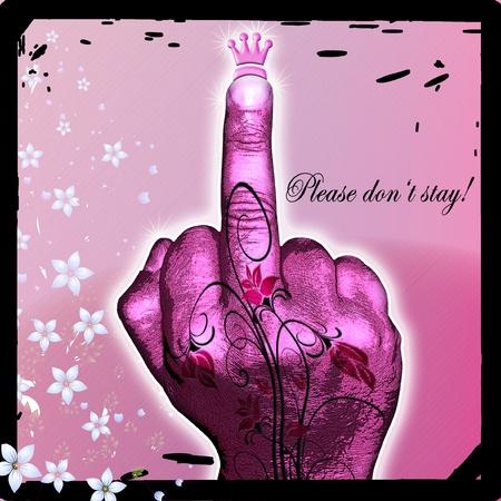 creative design of hand gesture photo