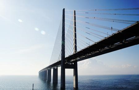 de brug tussen Zweden en Denemarken Stockfoto