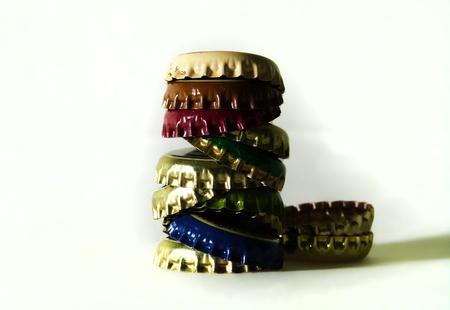 a pile of colorful caps  Standard-Bild