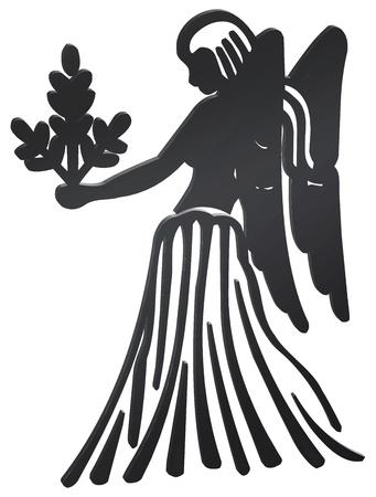 virgo: representación tridimensional de los signos del zodiaco - La representación tridimensional del zodiaco Foto de archivo