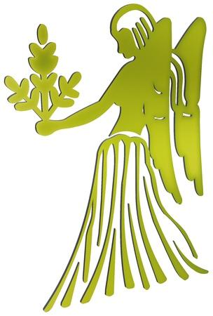 jungfrau: dimensionale Darstellung der Zeichen des Tierkreises - dimensionale Darstellung des Tierkreises