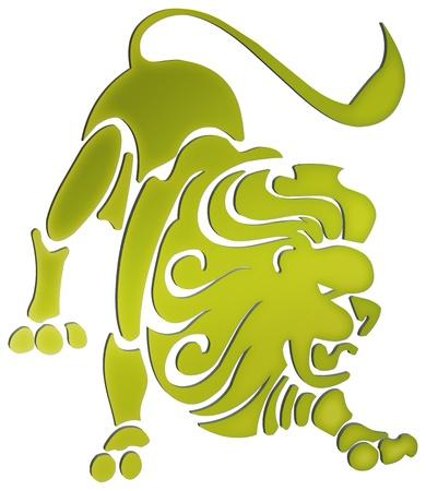 aries: representaci�n tridimensional de los signos del zodiaco - La representaci�n tridimensional del zodiaco Foto de archivo