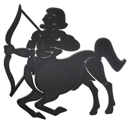 sagitario: representación tridimensional de los signos del zodiaco - La representación tridimensional del zodiaco Foto de archivo