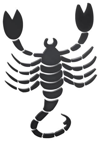 skorpion: dimensionale Darstellung der Zeichen des Tierkreises - dimensionale Darstellung des Tierkreises