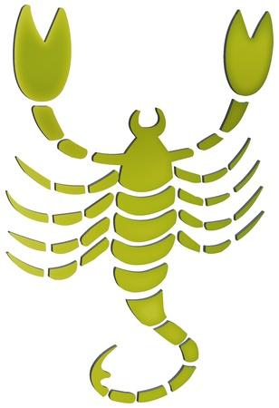 escorpio: representaci�n tridimensional de los signos del zodiaco - La representaci�n tridimensional del zodiaco Foto de archivo