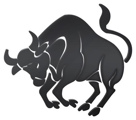 toro: rappresentazione tridimensionale dei segni dello zodiaco - rappresentazione tridimensionale dello zodiaco Archivio Fotografico