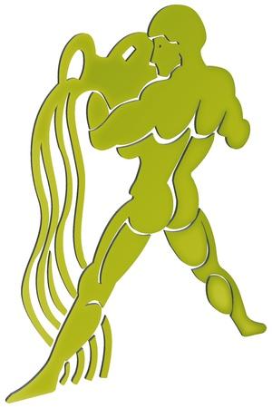 virgo: representaci�n tridimensional de los signos del zodiaco - La representaci�n tridimensional del zodiaco Foto de archivo