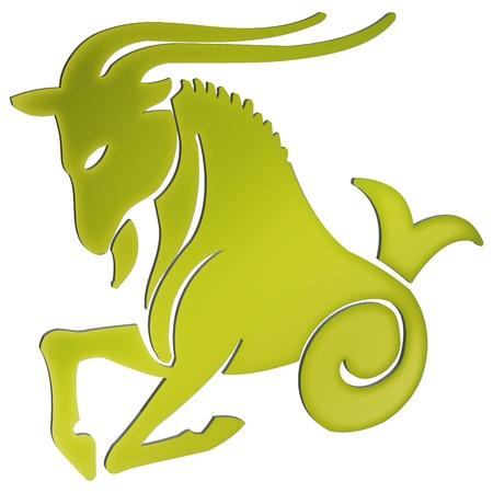 representación tridimensional de los signos del zodiaco - La representación tridimensional del zodiaco Foto de archivo