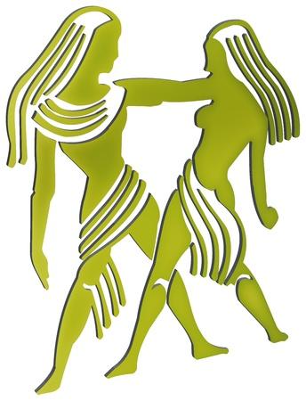 capricornio: representación tridimensional de los signos del zodiaco - La representación tridimensional del zodiaco Foto de archivo