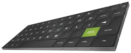 tastatur: keyboard with special button green energy - keyboard mit sondertaste green energy