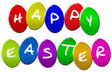 Happy Eastereggs as colorful illustration illustration