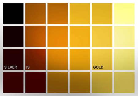gelb: Symbolic representation of a rich square life - Symbolische, quadratische Darstellung eines reichen Lebens