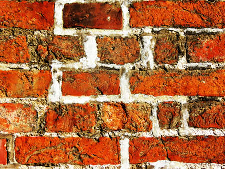 alte: An old wall made of old brick factory - Eine alte Mauer aus altem Backsteinwerk Stock Photo