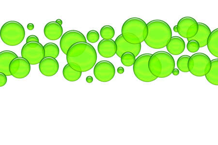 Green bubbles as illustration for your background, presentation, website Stock Illustration - 12635448