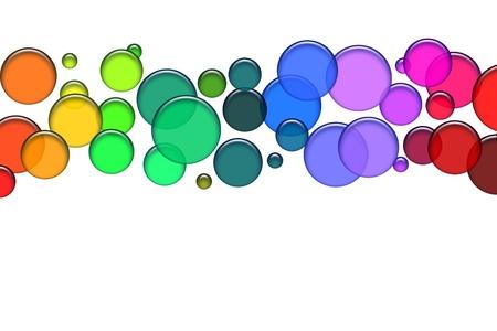Blue bubbles as illustration for your background, presentation, website Standard-Bild