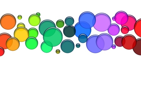 Blue bubbles as illustration for your background, presentation, website Stock Photo