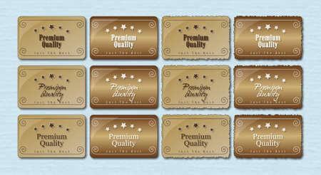 Premium Quality Labels Retro Ilustração