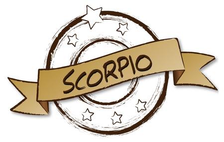 Retro illustration of the zodiac Scorpio The Scorpion