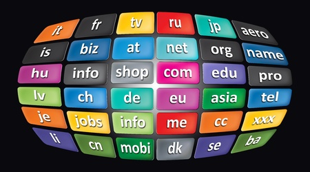 Worldwide Top Domains for your illustration or presentation