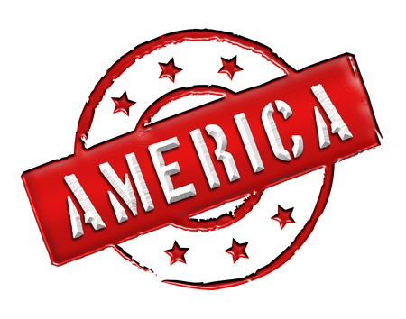 uncle sam: Sign and stamp named AMERICA for your presentation, for websites and many more