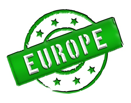 Sign and stamp named EUROPE for your presentation, for websites and many more. Stock Photo - 13281061