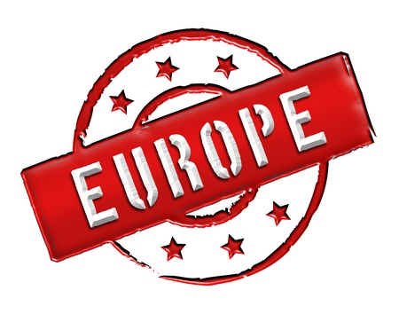 isoliert: Sign and stamp named EUROPE for your presentation, for websites and many more.