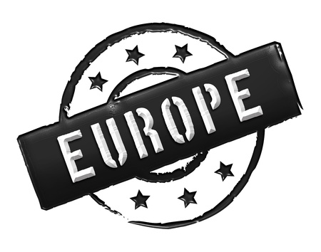 Sign and stamp named EUROPE for your presentation, for websites and many more. photo