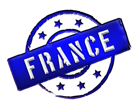 etikett: Sign and stamp named FRANCE for your presentation, for websites and many more
