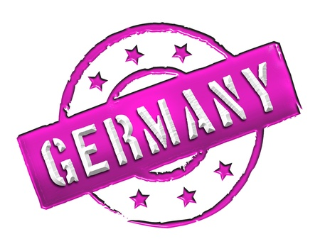 d mark: Sign and stamp named Germany for your presentation, for websites and many more  Stock Photo