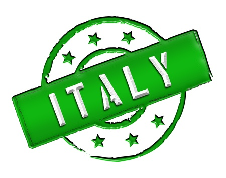 stempel: Sign and stamp named ITALY for your presentation, for websites and many more