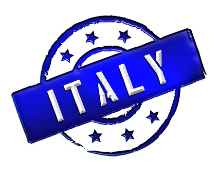 Sign and stamp named ITALY for your presentation, for websites and many more