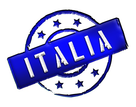Sign and stamp named ITALIA for your presentation, for websites and many more  photo
