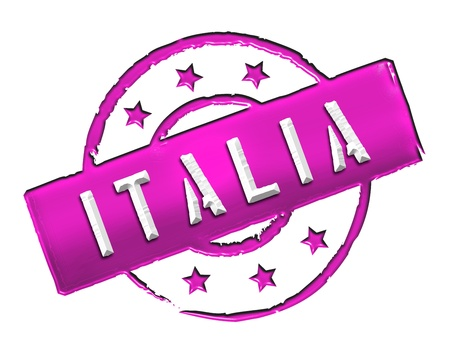 etikett: Sign and stamp named ITALIA for your presentation, for websites and many more  Stock Photo
