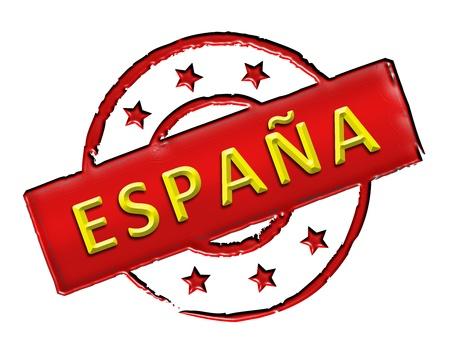 Firma y sello llamado ESPA�A para su presentaci�n, para los sitios web y muchos m�s Foto de archivo - 13313640