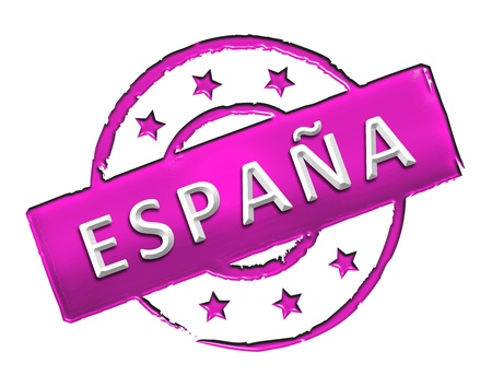 Sign and stamp named SPAIN for your presentation, for websites and many more  photo