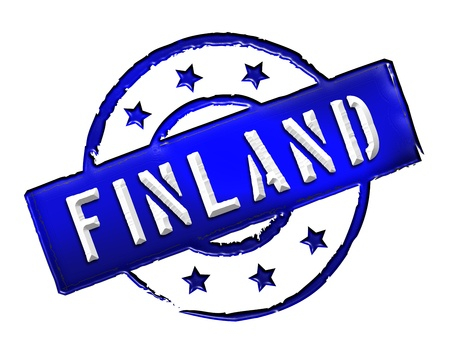 Sign and stamp named Finland   Suomi for your presentation, for websites and many more  photo