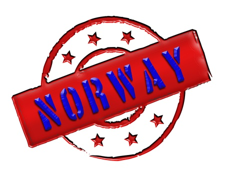 Sign and stamp named Norway   Norge for your presentation, for websites and many more  photo