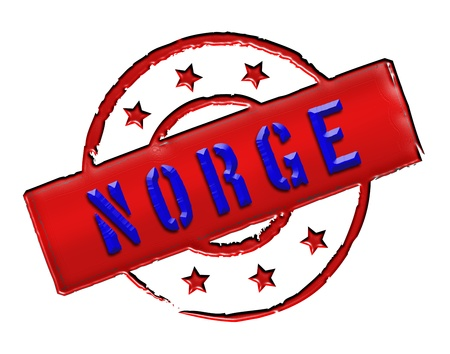 norge: Sign and stamp named Norway   Norge for your presentation, for websites and many more  Stock Photo