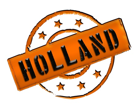 Sign and stamp named HOLLAND for your presentation, for websites and many more Stock Photo - 13313645