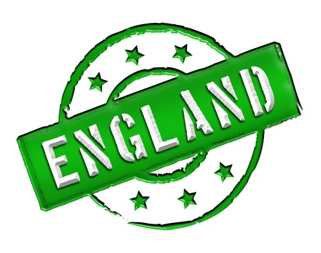 etikett: Sign and stamp named ENGLAND for your presentation, for websites and many more  Stock Photo